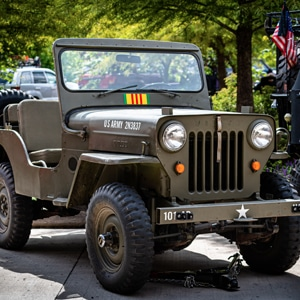 Restored US Army vintage Jeep