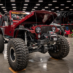 Red Monster Jeep