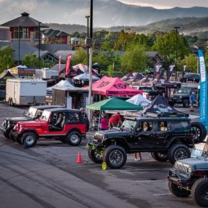 Jeeps on display