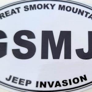 Great Smoky Mountain Jeep Club Decal