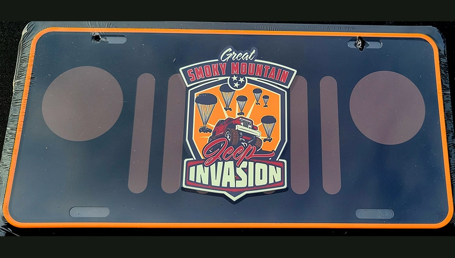 Great Smoky Mountain Jeep Club Invasion License Plate