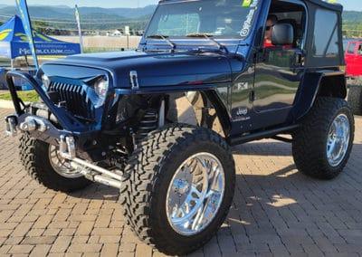 Black Jeep on display