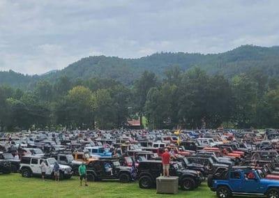 2021 Sea of Jeeps parking area
