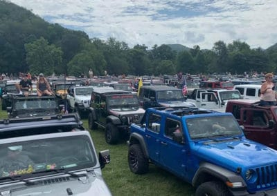 More Jeeps in the parking area
